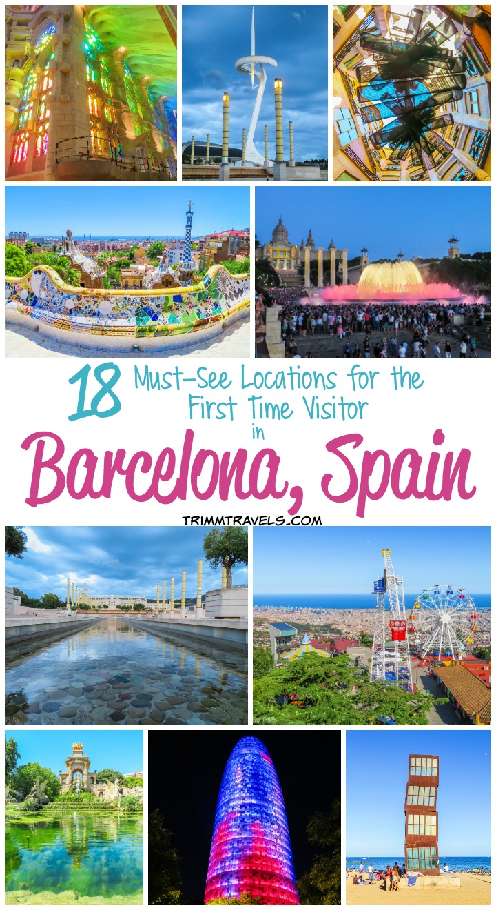 Best Places to See First Time Visitor Barcelona Spain