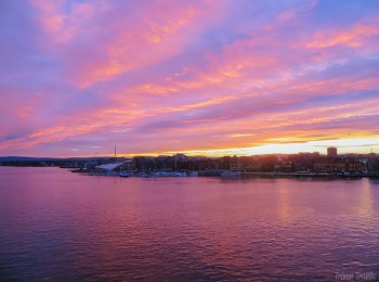 Roundup Review: sunset shoreline view of Oslo Norway