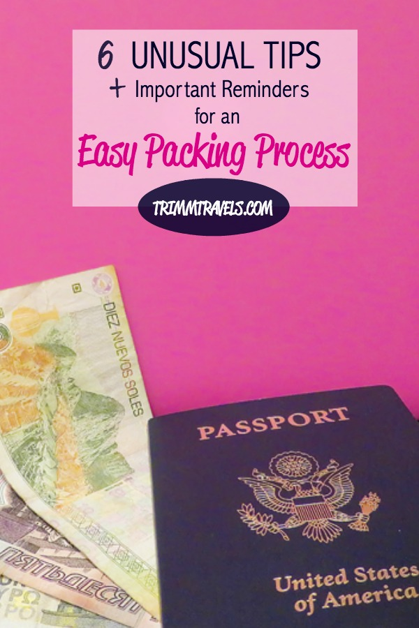 blog post pin for pinterest-tips for easy packing process