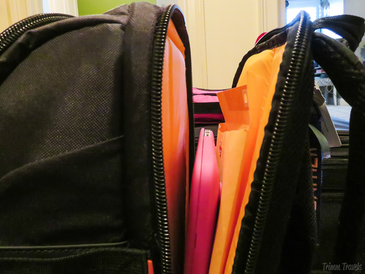 manilla envelope in backpack laptop compartment-tips for easy packing process