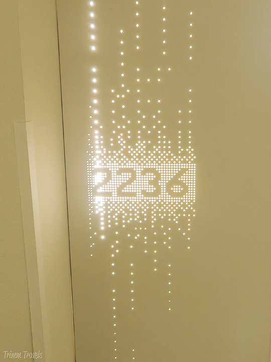 closeup of lighted up room #2236