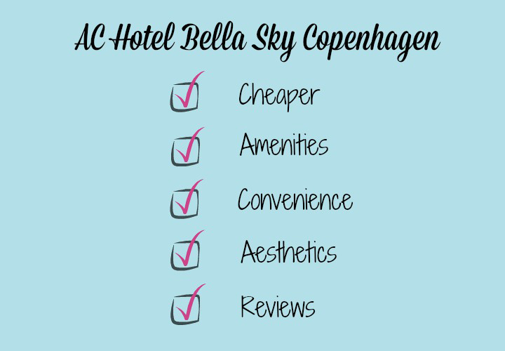 checklist chart of reasons why I chose hotel