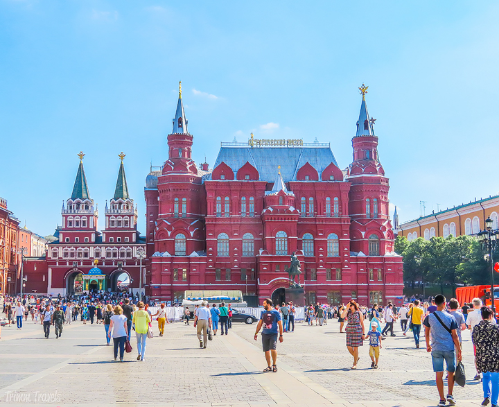 approaching the Red Square in Moscow Russia