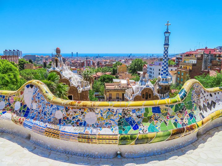 iconic view of Barcelona from Park Güell A Gaudi Barcelona Tour