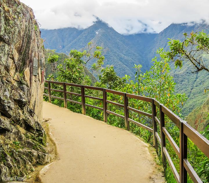 path leading into machu picchu peru
