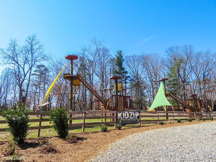 the KidZip area of Adventure Center of Asheville