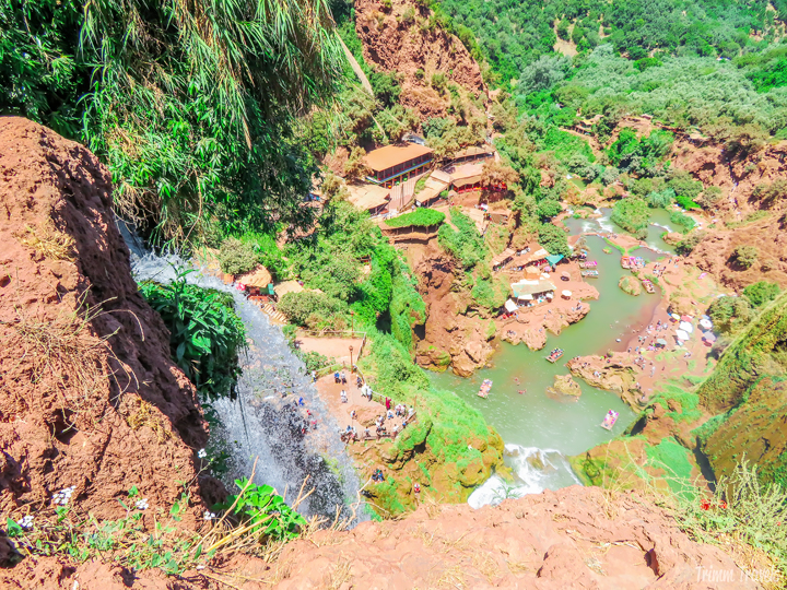 Would you like to see waterfalls, rainbows, and monkeys? Yes? Me too! Then Ouzoud Falls is the perfect Marrakech day trip for you and this gorgeous, boutique riad makes the perfect place to stay after you return! #marrakech #marrakesh #morocco #africa #daytrips #activities #accommodations #wheretostay #hotel #riad #destination #travel