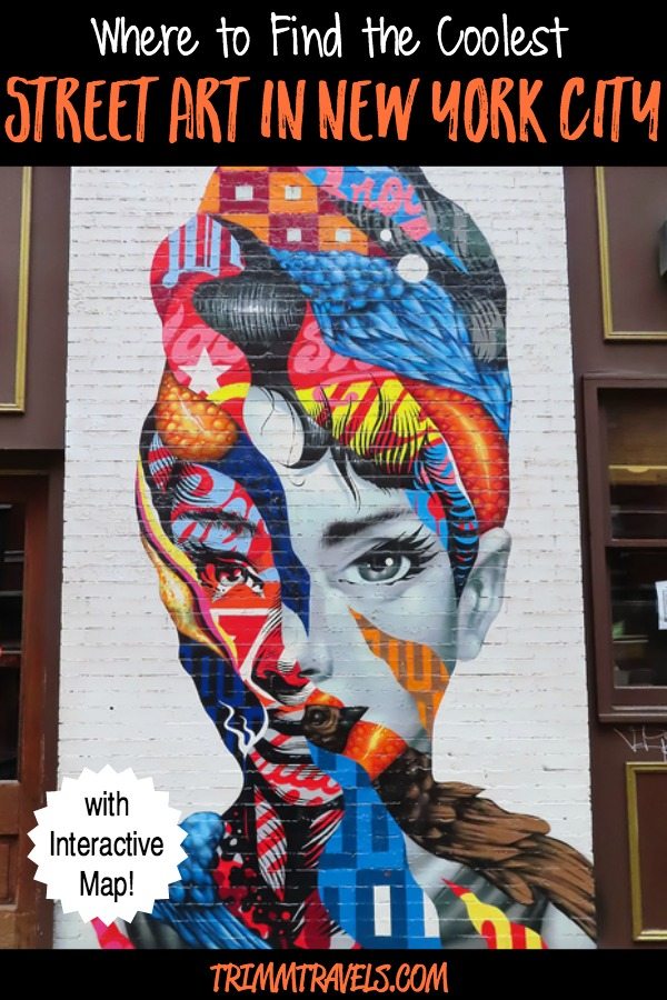If art and murals is your thing, then my guide to finding the coolest street art in New York City is a must. I've even included an interactive map to help! #streetart #murals #muralart #art #nyc #newyorkcity #newyork #travel #destinations #guide