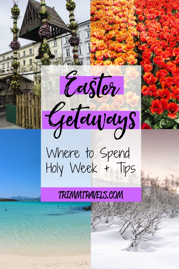 Spring is a great time to visit various destinations and many take off the week of Easter. So, check out these ideas and tips for fantastic Easter getaways! #easter #holyweek #travel #spring #amsterdam #mexico #armenia #usa #ephesus #sicily #krakow #guatemala #tromso #seville