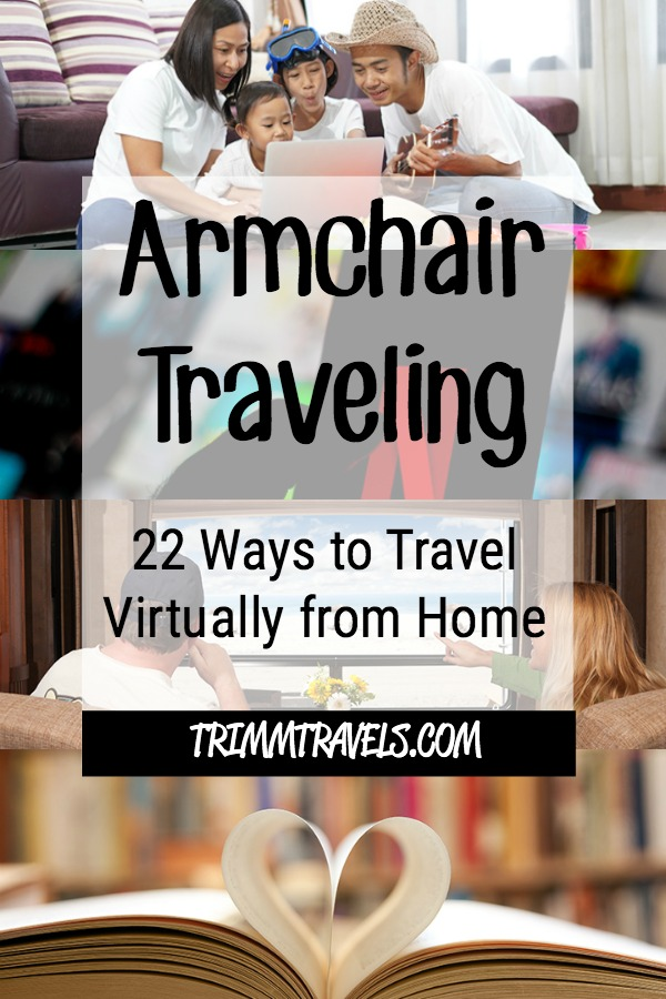 Sometimes there are circumstances that don't allow you to travel. However, armchair traveling is the solution. Here are virtual ways to travel from home! #armchairtravel #virtualtravel #travelfromhome #hometravel #staycation #travel #destinations #traveltips #travelinspiration #athome #virtualtraveling