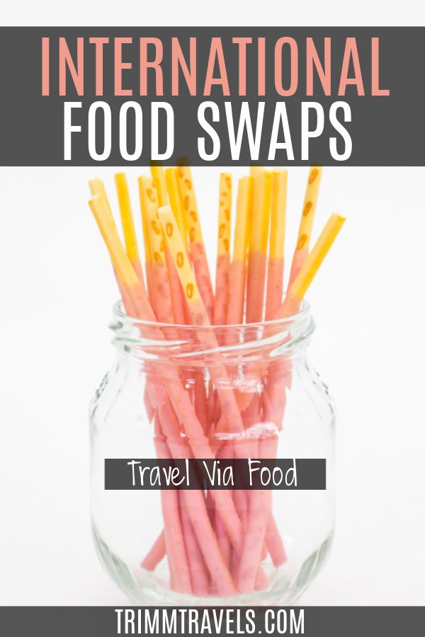Try an international food swap and learn a new way of culinary traveling. It's perfect for foods you miss and those times you can't travel! #food #snacks #travel #foodswap #culinary #snackswap #foodies
