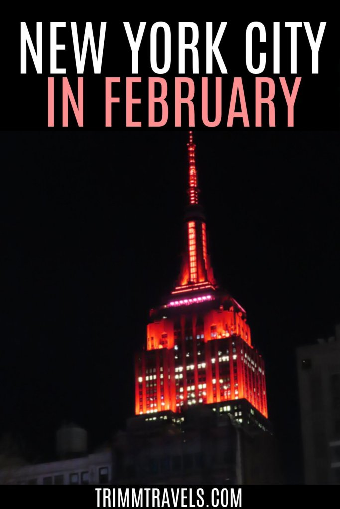 It might surprise you to learn that New York in February is a fantastic idea. Cheaper costs, fewer crowds, and lots of events...so why not? #newyork #nyc #february #valentines #winter #couples #romance