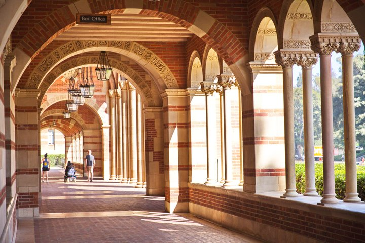 Vaulted arches of Royce Hall at UCLA