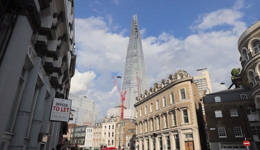 ザ・シャード泊 ヨーロッパ1高いビルから眺めるロンドンの街並み