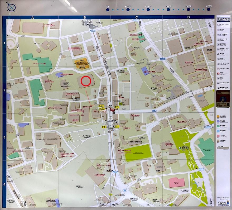 神谷町の地図