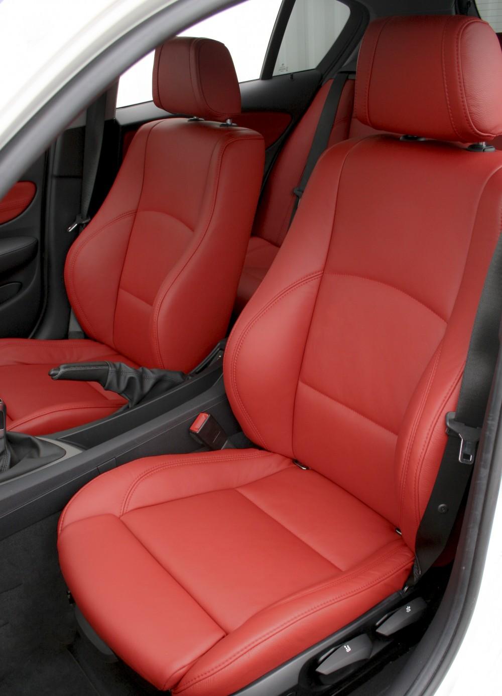 BMW E87 Sport NL Dakota Coral Red Leather Trim Technik