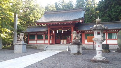 Fuji Omuro - a shrine dedicated to the man himself on the bank of Kawaguchiko