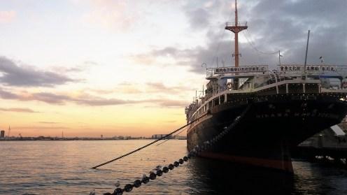 Yokohama bay before sunset