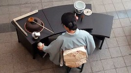 Creeping on tea ceremony from on high