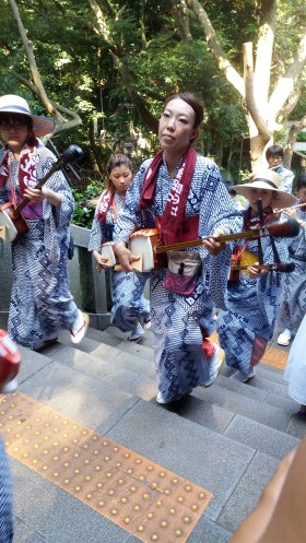 Bumped into a shamisen procession.