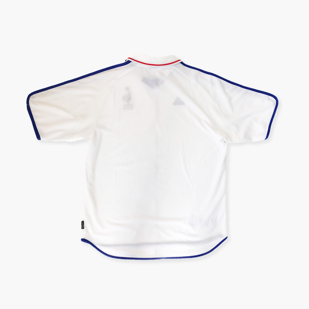 Maillot équipe de France Adidas Euro 2000 blanc