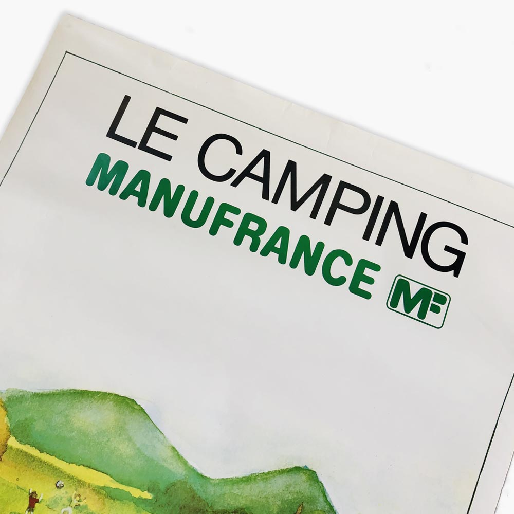 Affiche Manufrance Camping