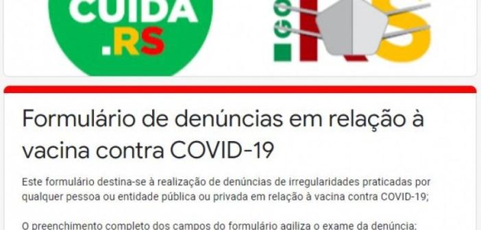Secretaria da Saúde e Ministério Público do Estado lançam formulário de denúncias para fura-filas da vacina contra a Covid-19