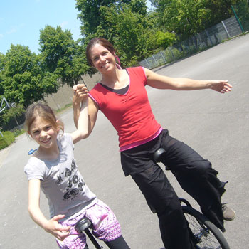 Foto Einrad fahren