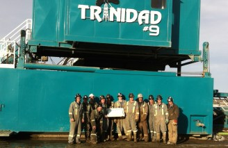 Trinidad Drilling safety milestone Rig 9