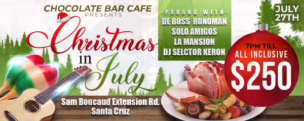 Christmas In July 2019 Trinidad.Events For Sunday 28th July 2019 D Junction