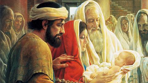 Les sept douleurs de Marie Simeon-the-prophet-Jesus-and-Mary