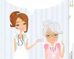 elderly at doctor