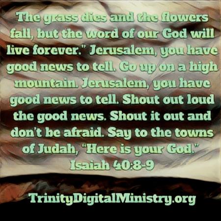 Isaiah 40_8-9 image
