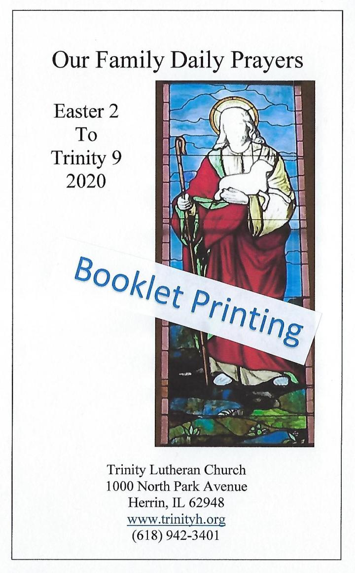 OFDP Easter 2 Cover Booklet Printing 2