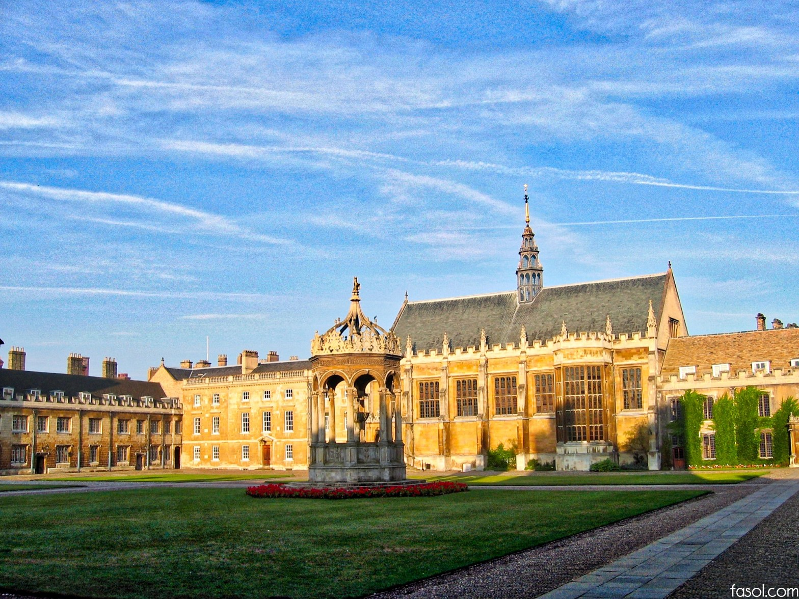 Trinity College. Cambridge University. Trinity in Japan