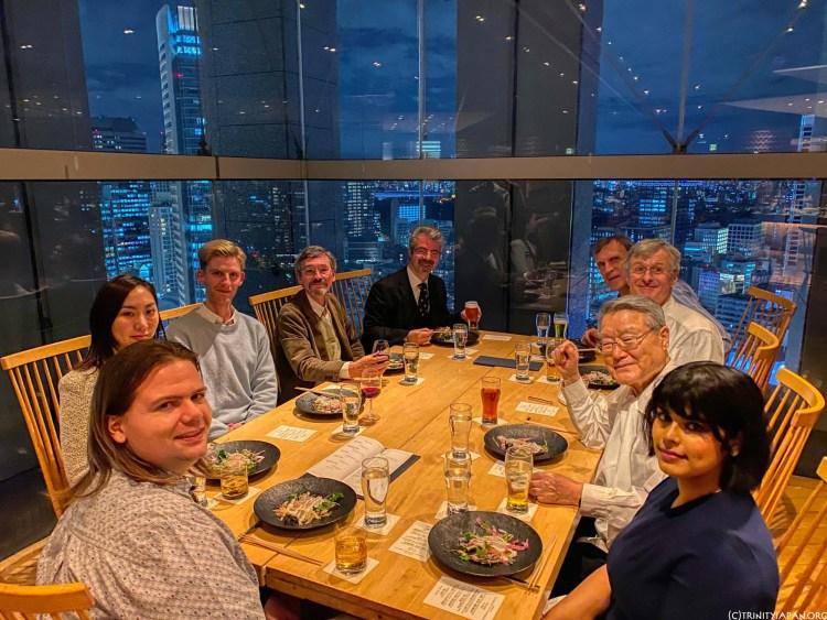18 December 2019 Trinity in Japan bonenkai / Christmas, year end meeting with Ambassador Ra
