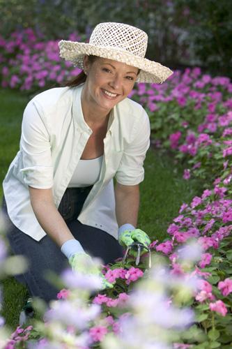 Woman Tending to Garden
