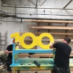 The We100 Benches being built in Trinity Set and Stage's workshop