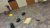 Practice field for the robot