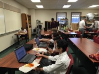 Members of CAD finalizing the design