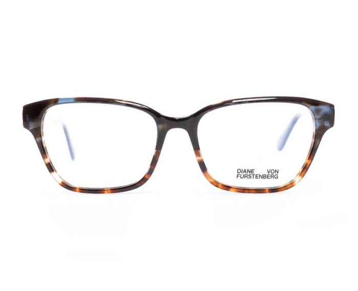 Diane Von Furstenberg DVF5116 in Teal/Brown Tortoise