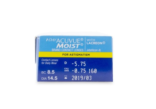 1-DAY ACUVUE® MOIST Brand for ASTIGMATISM Rx