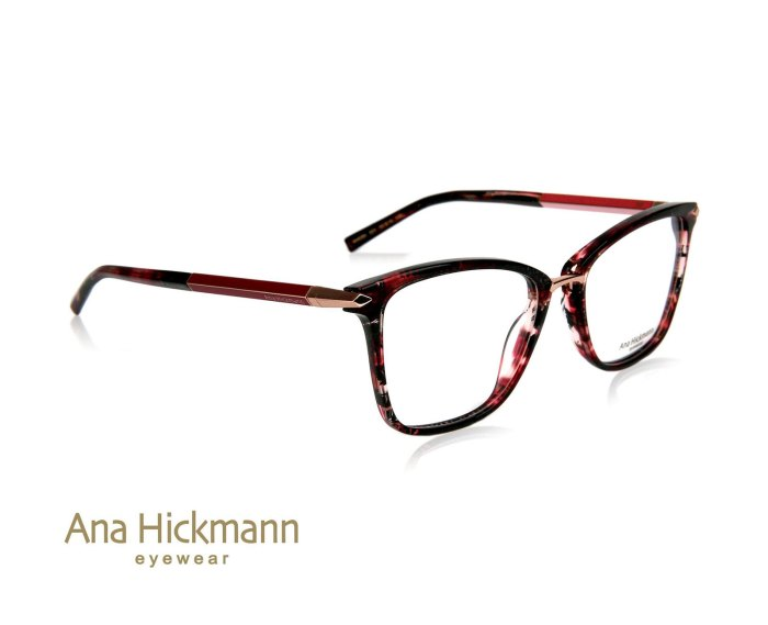 Ana Hickmann AH6350 in Red Havana/Rose Gold