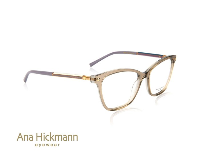 Ana Hickmann AH6360 in Transparent Light Brown/Transparent Light Grey Brown