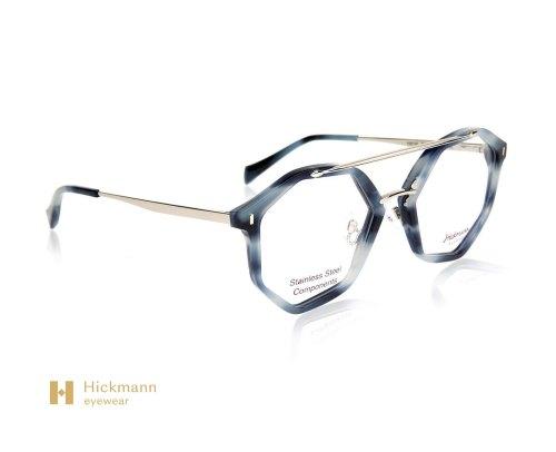 Hickmann Eyewear HI6135 in Blue Milk/Grey Stripe