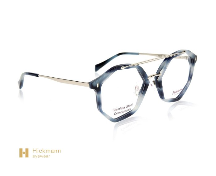 Hickmann Eyewear HI6135 in Blue Milk/Grey Stripe