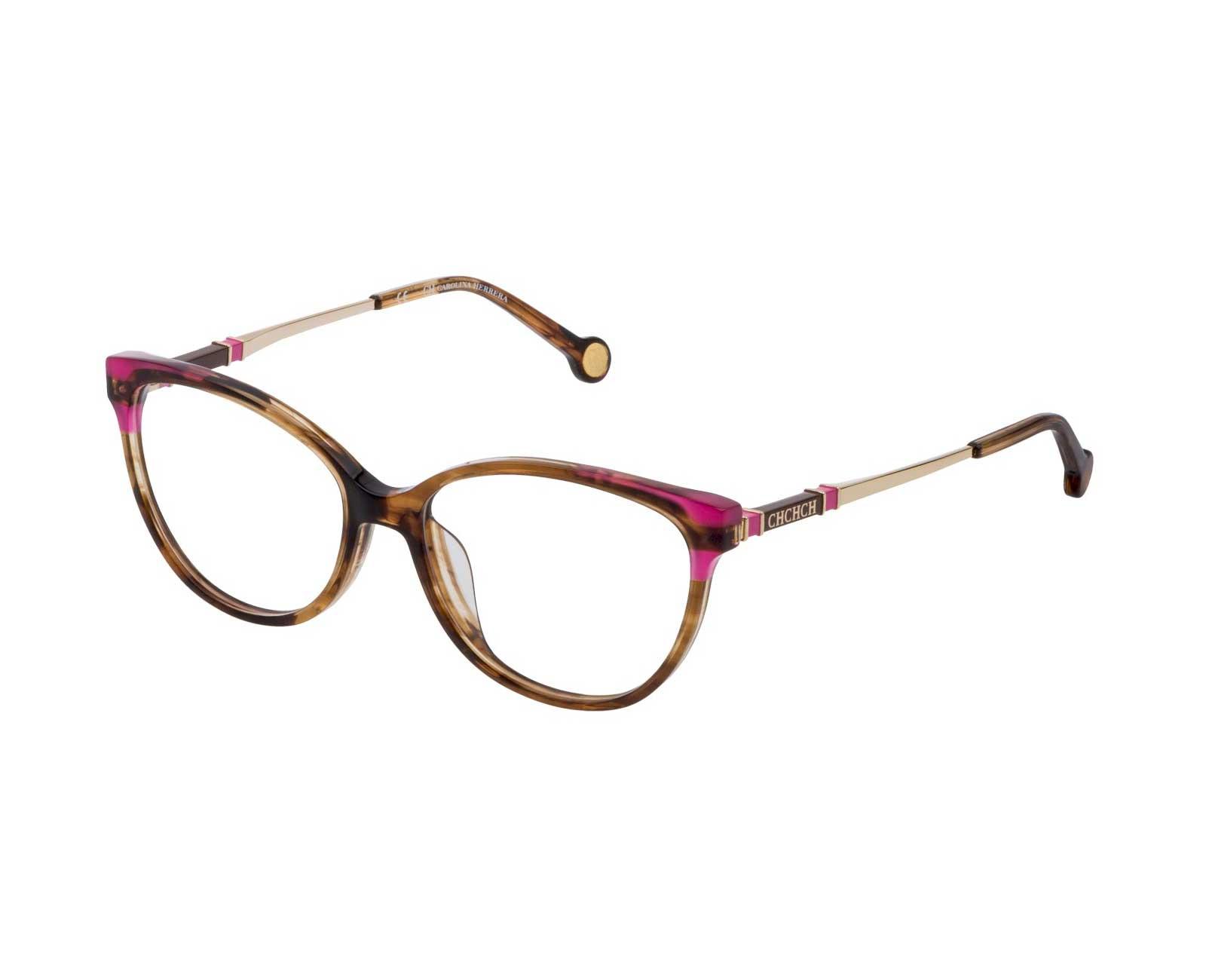 Carolina-Herrera-VHE851-in-Striped-Pink-Brown-Mustard