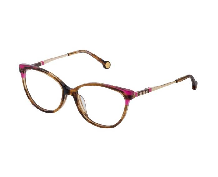 Carolina-Herrera-VHE851-in-Striped-Pink-Brown-Mustard