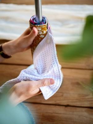 Rouleau d'essuie-tout lavable - Trinquette Artisanat - Détachable