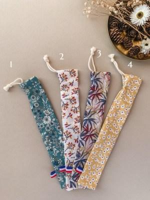 Pochette brosse à dents en coton - Trinquette Artisanat.